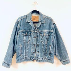 Vintage 90's Levi's Denim Jean Jacket Size Large